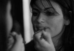 Senza trucco e senza inganno (Capannella) Tags: blackandwhite woman girl mouth hair donna eyes hand mani bn occhi ritratto bocca biancoenero capelli labbra