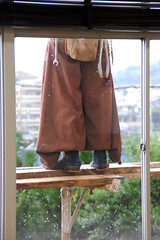 Construction Worker 2 (pokoroto) Tags: summer people man japan pants july  worker fukuoka 2009 kyushu baggy  iizuka 7     fumizuki 21 chikuh