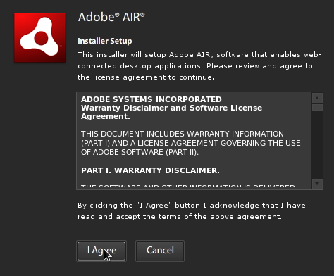 Adobe AIR Steup 1
