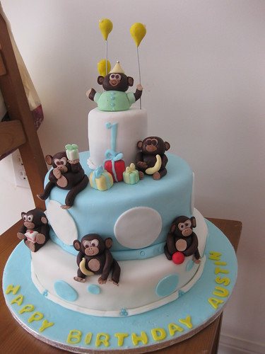 Baby Boy 1st Birthday Monkey cake!