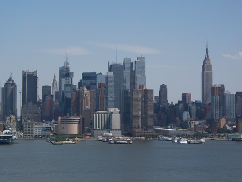 New York City skyline, view from Weehawken NJ
