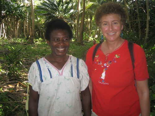Laura with wife of Chief, Tomman Island