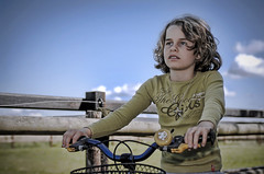 Estelle on the Bike (Ronald de Bie Fotografie) Tags: nikonflickraward memorycornerportraits