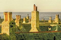 Chimneys by the Sea (~ paddypix ~) Tags: old sea scotland fishing village chimneys moray cullen morayfirth seatown