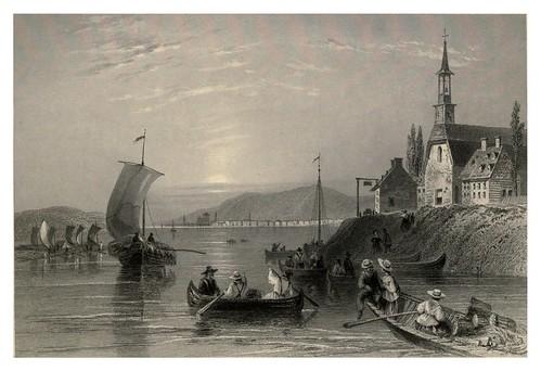 018 Escena en el rio San Lorenzo cerca de Montreal 1842