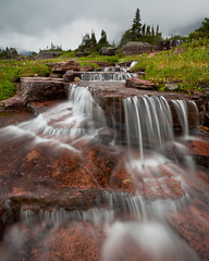Glacier - 2009 (Jesse Estes) Tags: sunrise waterfall glaciernationalpark 1635ii 5d2 jesseestesphotography