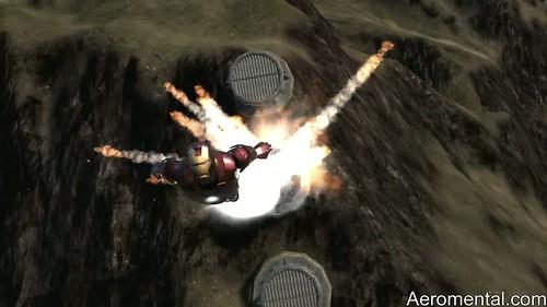 juego Iron Man 2 volando con explosiones