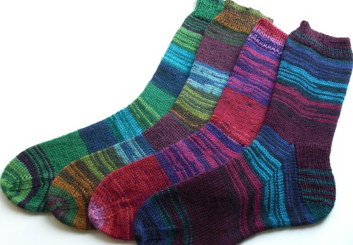 Mary Maxim Gemstone socks-singles-2