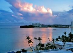 Guam Alupang Hotel (pflores012000) Tags: ocean morning trees clouds sunrise hotel bay palm guam alupang