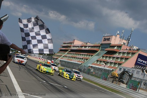 The finish of the 2009 Nurburgring 24hr