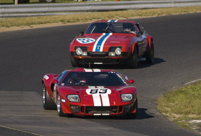 Ford GT and Ferrari Daytona at Lime Rock