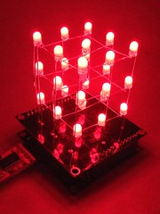 My business cards are arduino and LED CUBE!!!