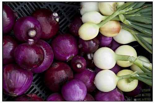 Purple and White Onions