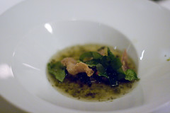 crispy chicken with seaweed broth