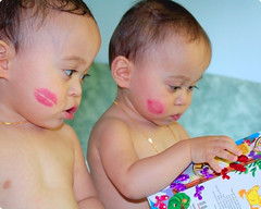 kisses (sweetkendi) Tags: twins babies adorable kisses cuties