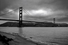 100_3398a (2) (Jeffrey Curnes) Tags: sanfrancisco california park travel urban blackandwhite water architecture clouds outside outdoors coast hiking goldengatebridge goldengate