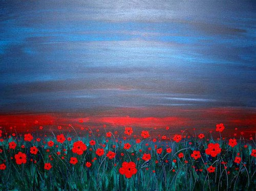 Jeremy Bortz - Field of Poppies at Sunset