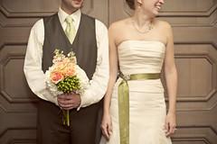 a fall wedding (emilycm) Tags: flowers wedding 50mm groom bride f14 flash bouquet nikkor