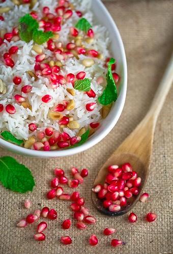 Basmati with Pomegranate @ Veggie Belly by Sala Kannan