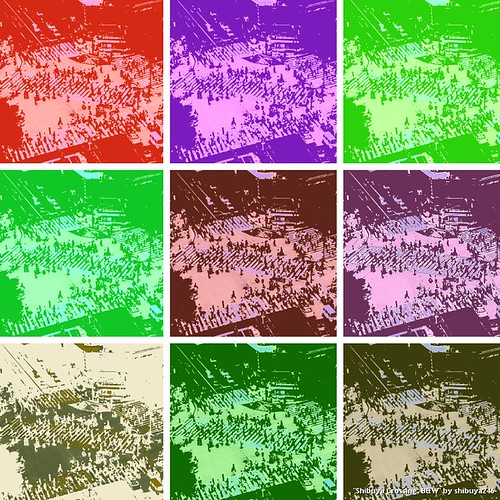 Shibuya Crossing  a la Andy Warhol