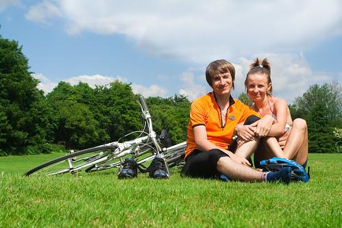 Summer weekend cycling