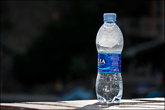 acqua (heavenuphere) Tags: sunlight water bottle h2o plastic refreshing acqua tabletop lilia minerale 55250mm