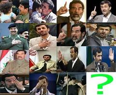 sadam-ahmadiNejad (m3ene) Tags: democracy iran islam  democrat   zan irani  emam rahbar    azad khamenei    khomeini zendan sepah   eadam  entezami    eslami mollah eslam   akhond  pasdar      jslami