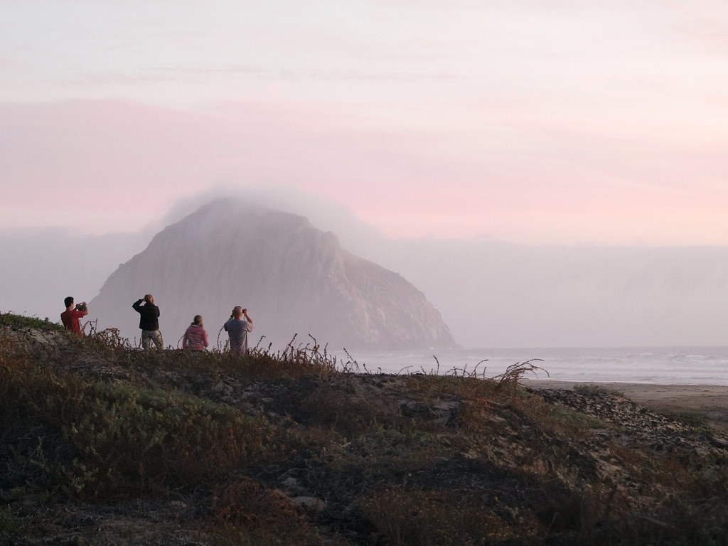 Photographers and Sunset on Morro Rock
