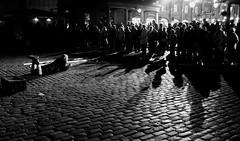 Once upon a time... (Ian Brumpton) Tags: street uk england blackandwhite london night blackwhite interestingness noir noiretblanc britain candid streetphotography highcontrast explore onceuponatime coventgarden streetperformer streetscenes streetperformance storytelling decisivemoment streettheatre explored blackwhitephotos