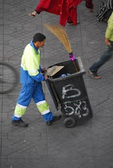 Garbage Man (marnieandandrew) Tags: morocco marrakesh djemaaelfna