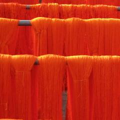 orange embrodery thread