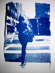 Back(s) From... (#1) (lepoSs) Tags: street nyc blue light shadow people urban newyork art french daylight back fuji canoneos30 walk lumire alt uv slide dia ombre bleu explore sidewalk velvia dos fujifilm contact universal backs flickrcentral rue dias lightandshadow gens cyanotype trottoir diapositive urbain colorslide alternativeprocess diapos diapo peopleonthestreet contactprint altprocess alternativeprocesses ombreetlumire 2035 peopleinmotion colorslides peopleinthestreet potassiumferricyanide inmovimento alternativephotographyprocess altproc diapositives flickraward enmouvement atx235afpro ishootfujifilm procdancien ferricammoniumcitrate gensdanslarue flickraward5 backfromnewyork solarexposure expositionsolaire chassispresse ferricyanuredepotassium ishotfujifilm sansformol formolfree citratedeferammoniacal contactprintframe