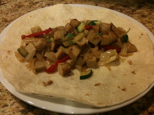 Veggie and Veggie-Turkey Fajita