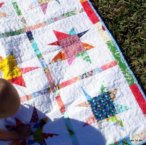 star quilt detail