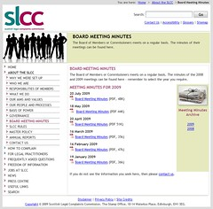 SLCC minutes Nov 2009 4 months behind