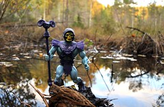 Skeletor, by the swamp (magnushamar) Tags: nature water vintage action swamp figure masters universe heman skeletor