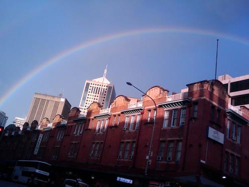 Rainbow Over Sydney City