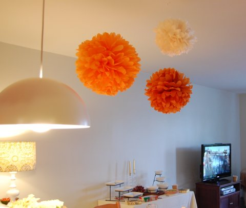party poms thanksgiving decor