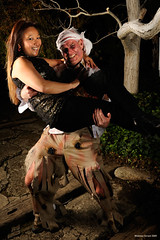 Colleen and Bill (naturalturn) Tags: couple costume torn tattered shredded ripped bill billstevens colleen party portrait night halloween paloalto california usa image:rating=4 image:id=084247