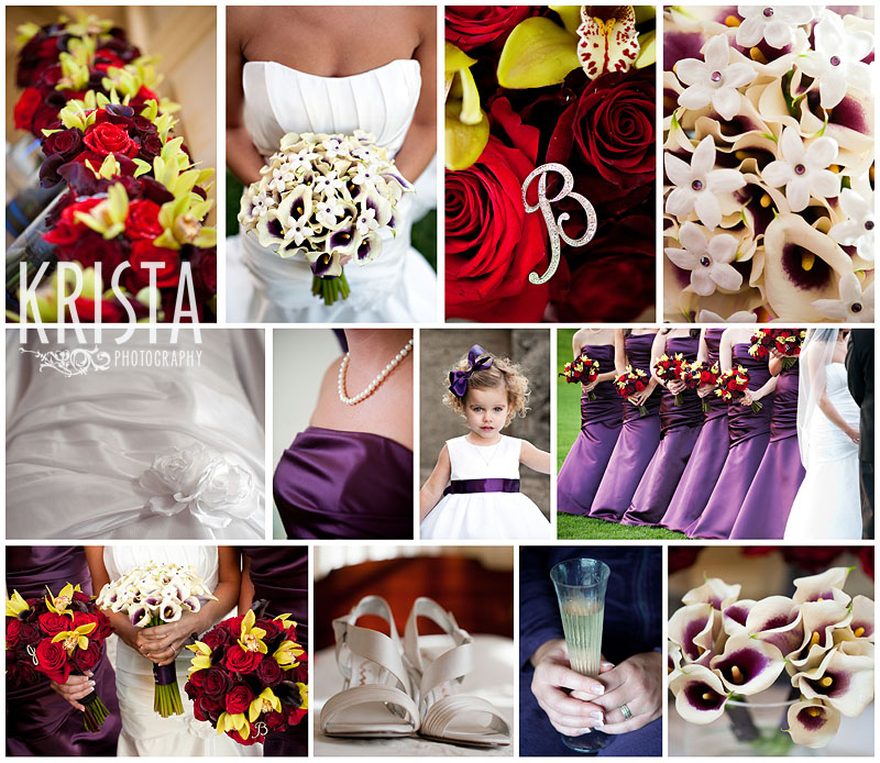 Purple & Red Wedding Details