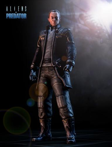 Actor Lance Henriksen in Aliens vs Predator