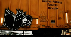 Read More Books (mightyquinninwky) Tags: railroad rain train geotagged skull graffiti book sticker streak character tag graf profile tracks indiana railway tags tagged southernindiana railcar rails boxcar xxx graff graphiti streaks cor freight trainyard booker bookman trainart ttx paintedtrain heavyrain freightyard railart whistleblower flyingskull spraypaintart monikers re