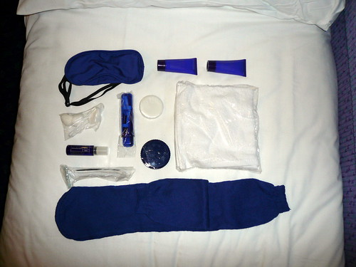 Comfort kit on the Caledonian sleeper
