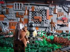('Wrecks') Tags: plant wall gate post lego fig mini creation dio custom barbed figures diorama figs wrecks apoc moc apocolyptic postapoc apocalego wreckslego