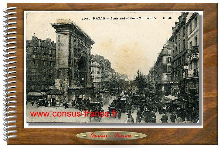109. PARIS Boulevard et Porte Saint-Denis
