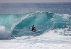 Nice Little Pipeline Tube October 29, 2009 (sgblyth) Tags: beach hawaii oahu surfer tube tubes pipe surfing northshore vague vagues olas pipeline welle ola onde