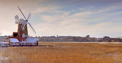 Cley Windmill (richard.heeks) Tags: snow windmill norfolk richard hdr marshes cley heeks