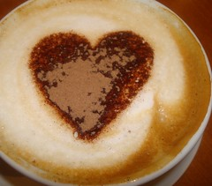 Happy Valentine's Day (pixiepic's) Tags: coffee heart chocolate valentines cappuccino froth platinumheartaward rubyphotographer