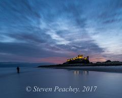 Alone (Steven Peachey) Tags: seascape sunrise bamburgh bamburghcastle northumberland canon canon6d ef1740mmf4l bluehour manfrotto beach sky sand castle lee09gnd coast 2017 morning winter lightroom stevenpeachey northeastcoast northeastengland longexposure le lowlight