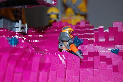 Space Miner (sander_koenen92) Tags: lego space mining tower lava platform outpost container ship crane crystals